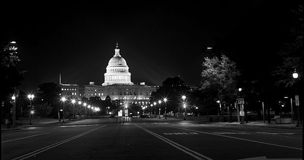 Washington Congress architectural night photography