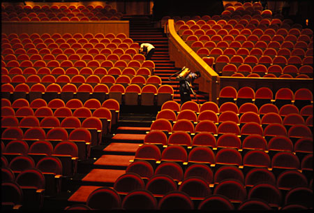 theater interior architectural photography